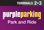 Purple Parking Park and Ride T2 and 3