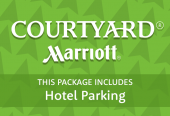 Courtyard by Marriott with parking at the hotel