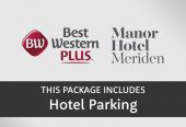 Meriden Manor with parking at the hotel