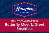 Hampton by Hilton, breakfast + Butterfly Meet & Greet