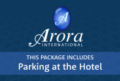Arora with parking at the hotel