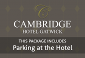 Cambridge Standard Room with parking at the hotel