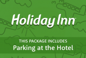 Holiday Inn with parking at the hotel