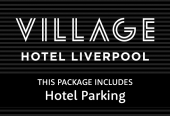 Village Hotel with parking at the hotel