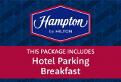 Hampton by Hilton with parking at the hotel