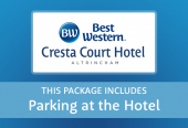 Cresta Court with parking at the hotel