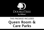 Hilton queen room with Care Parks