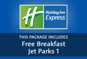 Holiday Inn Express with breakfast and parking at JetParks