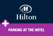 Hilton with parking at the hotel