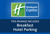 Express by Holiday Inn with hotel parking and breakfast