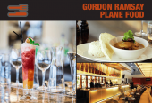 A 2-Course meal at Gordon Ramsay's Plane Food